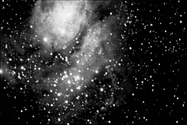 The Lagoon Nebula (mono)